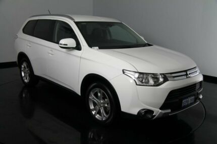 2014 Mitsubishi Outlander ZJ MY14.5 LS 2WD White 6 Speed Constant Variable Wagon Victoria Park Victoria Park Area Preview