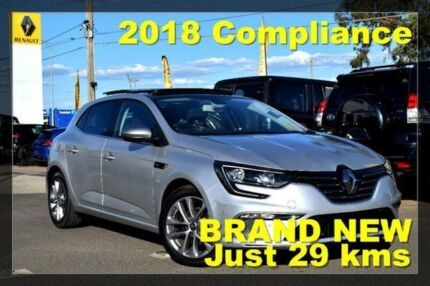 2018 Renault Megane BFB GT-Line EDC Silver 7 Speed Sports Automatic Dual Clutch Hatchback