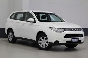 2013 Mitsubishi Outlander ZJ ES (4x4) White Continuous Variable Wagon Bentley Canning Area Preview