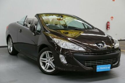 2010 Peugeot 308 T7 CC Brown 6 Speed Sports Automatic Convertible