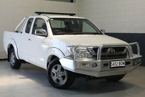 2011 Toyota Hilux GGN15R MY10 SR5 Xtra Cab White 5 Speed Automatic Utility Blair Athol Port Adelaide Area Preview
