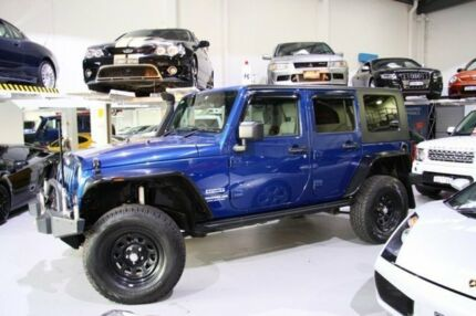 2010 Jeep Wrangler JK MY2010 Unlimited Sport Blue 5 Speed Automatic Softtop Beckenham Gosnells Area Preview