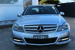2011 Mercedes-Benz C200 W204 MY11 Avantgarde BE Silver 7 Speed Automatic G-Tronic Sedan Five Dock Canada Bay Area Preview