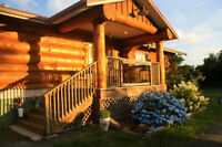 Custom log home on 6 acres in Yarrow, BC