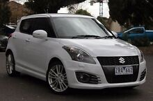2013 Suzuki Swift  White Constant Variable Hatchback Doncaster Manningham Area Preview