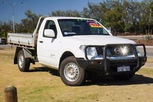 2013 Nissan Navara D40 S7 MY12 RX White 6 Speed Manual Cab Chassis Mindarie Wanneroo Area Preview