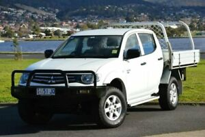 2013 Mitsubishi Triton MN MY13 GLX Double Cab White 4 Speed Sports Automatic Utility Derwent Park Glenorchy Area Preview