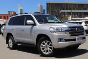 2017 Toyota Landcruiser VDJ200R MY16 Sahara (4x4) Silver Pearl 6 Speed Automatic Wagon Northbridge Perth City Area Preview