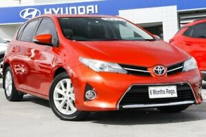 2013 Toyota Corolla ZRE182R Ascent Sport S-CVT Orange 7 Speed Constant Variable Hatchback