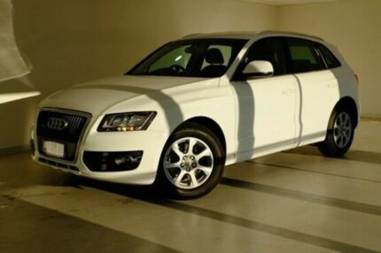 2010 Audi Q5 8R MY10 TDI S tronic quattro White 7 Speed Sports Automatic Dual Clutch Wagon Glebe Hobart City Preview