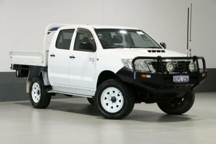 2014 Toyota Hilux KUN26R MY14 SR White 5 Speed Manual Cab Chassis ...