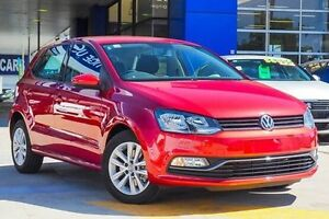 2016 Volkswagen Polo 6R MY16 81TSI DSG Comfortline Red 7 Speed Sports Automatic Dual Clutch Myaree Melville Area Preview