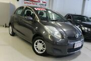 2009 Toyota Yaris NCP90R MY09 YR Grey 5 Speed Manual Hatchback Southport Gold Coast City Preview