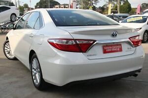 2016 Toyota Camry AVV50R MY16 Atara SL Hybrid Crystal Pearl Continuous Variable Sedan Old Guildford Fairfield Area Preview