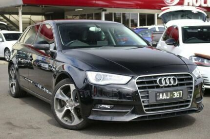 2013 Audi A3 8P MY13 Ambition Sportback S tronic Black 7 Speed Sports Automatic Dual Clutch