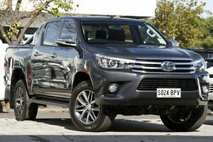 2017 Toyota Hilux GUN126R SR5 Double Cab Graphite 6 Speed Sports Automatic Utility Adelaide CBD Adelaide City Preview