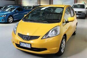 2009 Honda Jazz GE GLi Yellow 5 Speed Manual Hatchback Knoxfield Knox Area Preview