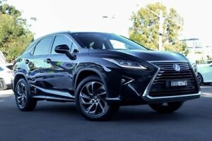 2015 Lexus RX450H GYL25R Sports Luxury Black Constant Variable Kirrawee Sutherland Area Preview