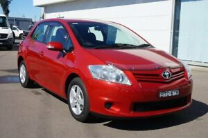 2010 Toyota Corolla ZRE152R MY10 Ascent Red 6 Speed Manual Hatchback Cardiff Lake Macquarie Area Preview