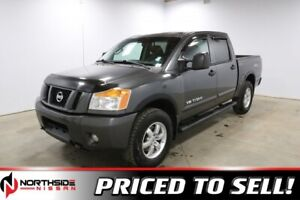 2012 Nissan Titan 4WD CREWCAB PRO-4X Accident Free,  Leather,  H