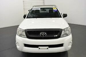 2011 Toyota Hilux GGN15R MY11 Upgrade SR Glacier White 5 Speed Automatic Cab Chassis Moorabbin Kingston Area Preview