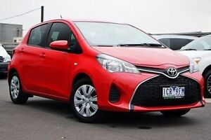 2014 Toyota Yaris NCP130R YR Red 4 Speed Automatic Hatchback Nunawading Whitehorse Area Preview