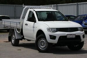 2010 Mitsubishi Triton MN MY10 GLX White 4 Speed Automatic Cab Chassis Ferntree Gully Knox Area Preview