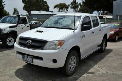 2008 Toyota Hilux SR White 5 Speed Manual Dual Cab Delacombe Ballarat City Preview