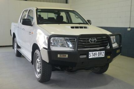 2013 Toyota Hilux KUN26R MY14 SR Double Cab White 5 Speed Automatic Utility Blair Athol Port Adelaide Area Preview