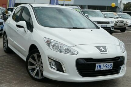 2013 Peugeot 308 T7 MY13 Active White 6 Speed Sports Automatic Hatchback