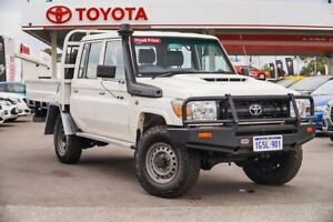 2016 Toyota Landcruiser VDJ79R Workmate Double Cab French Vanilla 5 Speed Manual Cab Chassis Osborne Park Stirling Area Preview