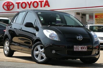 2008 Toyota Yaris NCP90R Rush Black 5 Speed Manual Hatchback