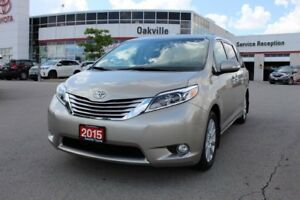 2015 Toyota Sienna LIMITED AWD w/Dual Roofs, Navigation, Blind S
