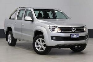 2014 Volkswagen Amarok 2H MY14 TDI400 Trendline (4x4) Silver 6 Speed Manual Dual Cab Utility Bentley Canning Area Preview