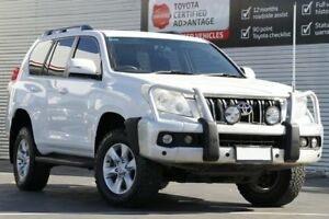 2013 Toyota Landcruiser Prado KDJ150R GXL Glacier White 5 Speed Sports Automatic Wagon