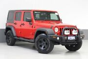 2014 Jeep Wrangler Unlimited JK MY13 Sport (4x4) Red 6 Speed Manual Softtop St James Victoria Park Area Preview
