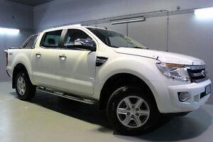 2012 Ford Ranger PX XLT Double Cab White 6 Speed Sports Automatic Utility Launceston Launceston Area Preview
