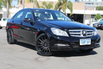 2012 Mercedes-Benz C200 W204 MY12 BlueEFFICIENCY 7G-Tronic + Black 7 Speed Sports Automatic Sedan