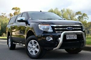 2012 Ford Ranger PX XLT Double Cab Black 6 Speed Sports Automatic Utility Thorngate Prospect Area Preview