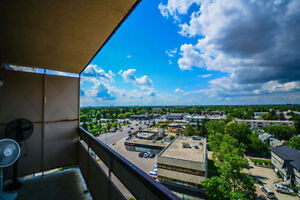 Beautiful 9th floor fully furnished 3 bedroom suite