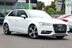 2013 Audi A3 8V Ambition Sportback S tronic White 6 Speed Sports Automatic Dual Clutch Hatchback Nunawading Whitehorse Area Preview