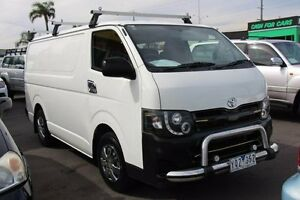 2011 Toyota Hiace TRH201R MY11 Upgrade LWB White 4 Speed Automatic Van Heatherton Kingston Area Preview