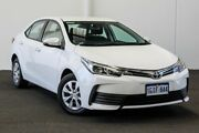 2017 Toyota Corolla ZRE172R Ascent S-CVT Glacier White 7 Speed Constant Variable Sedan Myaree Melville Area Preview