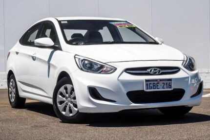 2016 Hyundai Accent RB4 MY17 Active White 6 Speed Constant Variable Sedan Maddington Gosnells Area Preview