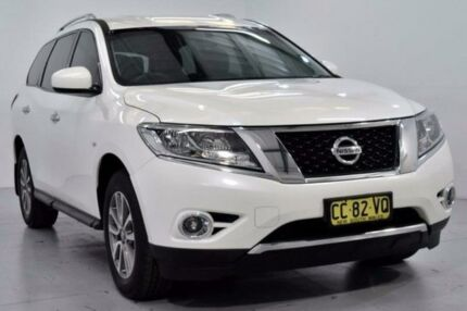 2015 Nissan Pathfinder R52 ST White Constant Variable Wagon Lansvale Liverpool Area Preview