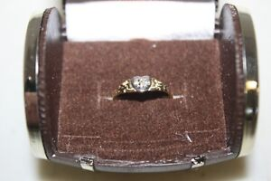10k gold with small diamond, childs ring, size 1 London Ontario image 3