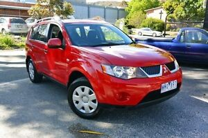 2007 Mitsubishi Outlander ZG MY07 LS Code Red 6 Speed Continuous Variable Wagon Upper Ferntree Gully Knox Area Preview