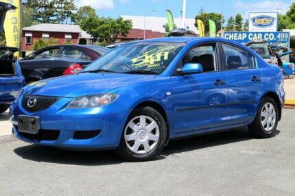 2004 Mazda 3 BK10F1 Neo Blue 5 Speed Manual Sedan Greenslopes Brisbane South West Preview