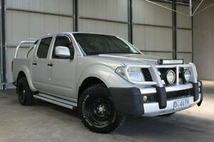 2013 Nissan Navara D40 S7 MY12 RX Silver 6 Speed Manual Utility Invermay Launceston Area Preview