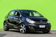 2012 Kia Rio UB MY12 SLi Black 6 Speed Manual Hatchback Ringwood East Maroondah Area Preview